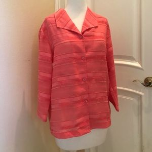 NWT Christofer & Banks coral color blouse